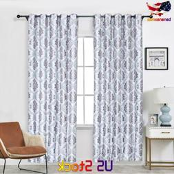 1/2/4 Panels Blackout Window Curtain insulation Thermal Drap