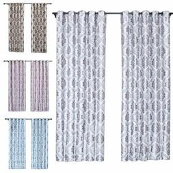 1/2/4 Panels Blackout Window Curtains Thermal Insulated Drap