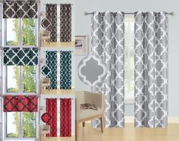 1/2PC SET WINDOW CURTAIN LINED BLACKOUT GROMMET PANEL VALANC