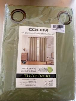 1 pair Miuco Thermal Insulated Grommet 52-Inch-By-84-Inch Bl