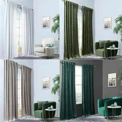 1 Panel Curtain With Pleated Tape for Living Room Blackout W