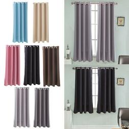 1 Panel Solid Color Blackout Window Curtain Panels for Bedro