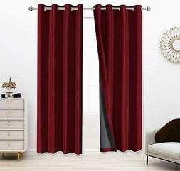 100% Blackout Curtain Thermal Insulated Noise Reducing Drape