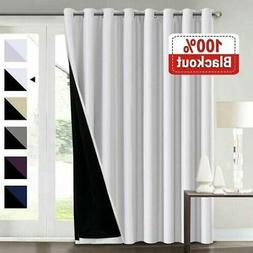 100% Blackout Curtains Double Layer Lined Drapes Thermal Ins