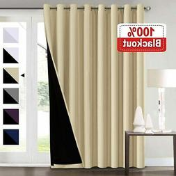 100% Blackout Curtains for Living Room Extra Wide Blackout