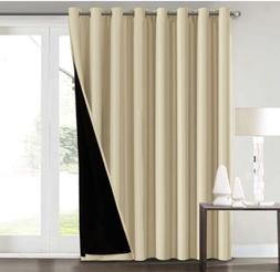 100% Blackout Curtains for Living Room Extra Wide Blackout C