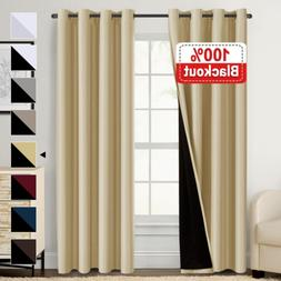 100 percent blackout curtains thermal insulated window