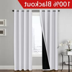 100 percent blackout white curtains for bedroom