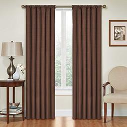 Eclipse Kendall Thermaback Window Panel, 42x54, Chocolate