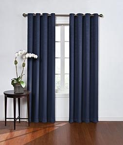 Eclipse 13703052084NVY Round Blackout Single Window Curtain