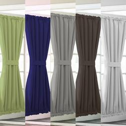 1PC LINED SOLID BLACKOUT ROD POCKET WINDOW/DOOR PANEL WITH T