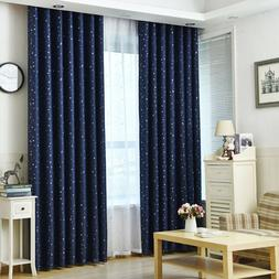 1pcs Curtains Thermal Stars Blackout Eyelet Ring Top Curtain