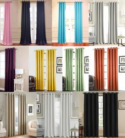 2 PANEL SET GROMMET THERMAL LINED BLACKOUT WINDOW CURTAIN DR