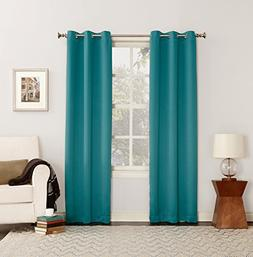 2 Pack Sun Zero Blackout Window Grommet Curtain Panel Marine