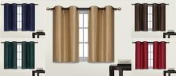 2 SMALL SHORT GROMMET PANEL LINED BLACKOUT WINDOW CURTAIN TR