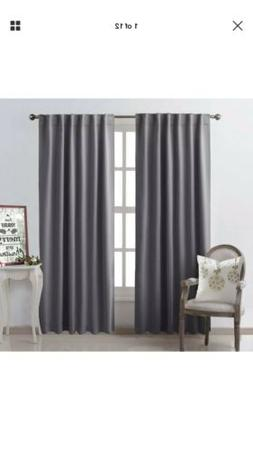 2 NICETOWN Bedroom Curtains Blackout Curtain Panels - Gray C