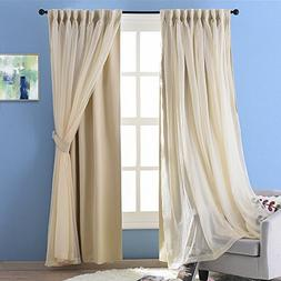 NICETOWN 2 Layers Drape Mix & Match Elegance Home Decor Wind