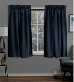 Exclusive Home Curtains 2 Pack Sateen Woven Blackout Pinch P