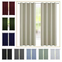 2 Panel Blackout Curtain Room Darkening Curtain Thermal Insu