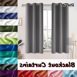 2 Panel Blackout Curtain Window Room Darkening Curtain Therm