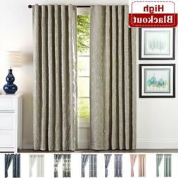 2 Panel Room Darkening Thermal Insulated Blackout Window Cur