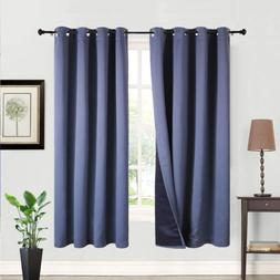 Balichun 2 Panels 100% Blackout Curtains Thermal Insulated S