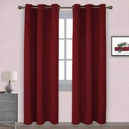 2 Panels Blackout Window Curtains Room Darken Thermal Insula