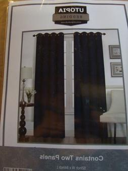 Utopia Bedding 2 Panels Grommet Blackout Curtains Insulated