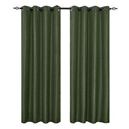 2 panels linen thermal insulated