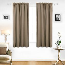 2 Panels Sets Blackout Curtains Thermal Insulated Darkening