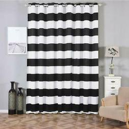 2 Stripe Thermal Insulated Blackout Curtains And Grommet Win