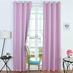2 Thermal Insulated Blackout Curtains Grommet Top Room Darke