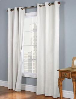 2 WHITE GROMMET PANEL WINDOW CURTAIN LINED 99% BLACKOUT THER