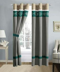 2Panel Bedroom Curtains Blackout Drapery Panels Thermal Insu
