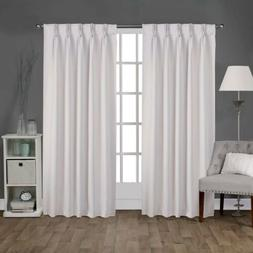 2pc HOME EXCLUSIVE Sateen Pinch Pleat Woven Blackout Curtain