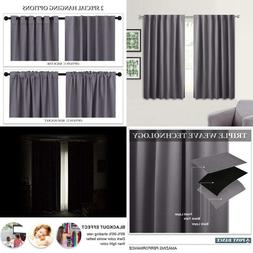 """45"""" Long Blackout Curtains - Back Tab  Rod Pocket Thermal In"""