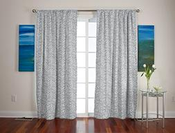 "Roc-lon 50""Wx95""L 100Percent Blackout Drapery Panel Geo Pewt"