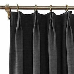 """ChadMade 50"""" W x 84"""" L Polyester Linen Drapes with Thermal B"""