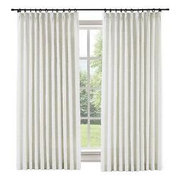 "ChadMade 50"" W x 96"" L Polyester Linen Drapes with Blackout"