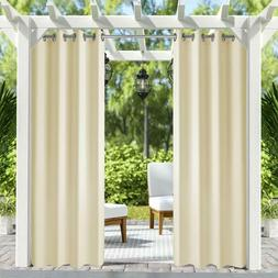 """50"""" x 84"""" Patio Outdoor/Indoor Curtains UV Privacy Drape Thi"""