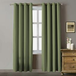 """52"""" x 96"""" Blackout Curtains Thermal Insulated Room Darknenin"""