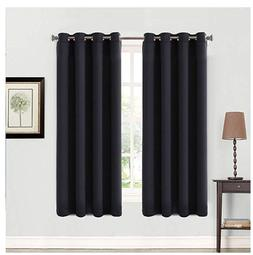 99% Blackout 2 Panels Curtains Thermal Insulated Grommets Dr