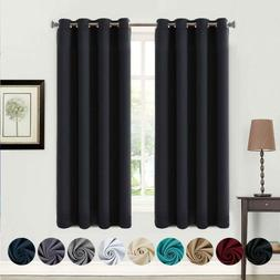 Balichun 99% Blackout 2 Panels Curtains Thermal Insulated Gr