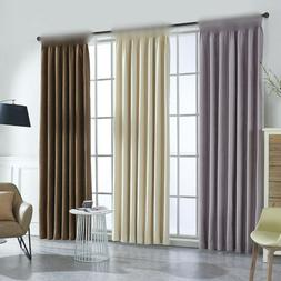 Blackout Curtains for Living Room Beige Cloth Window Drapes