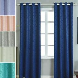 Embossed Blackout 52 x 96-Inch Window Drapes Curtains 2 Pane