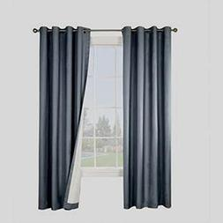 Gorgeous Home  1 Panel Solid Plain Thermal Foam Lined Blacko
