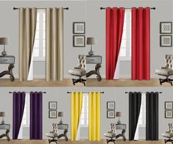 INSULATED FOAM LINED THERMAL BLACKOUT GROMMET WINDOW CURTAIN