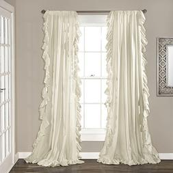 Lush Decor Reyna Ivory Window Panel Curtain Set for Living,