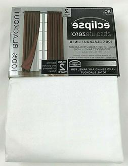 "NEW Eclipse BlackOut Window Curtain Panel 54"" x 84"" Pair Win"