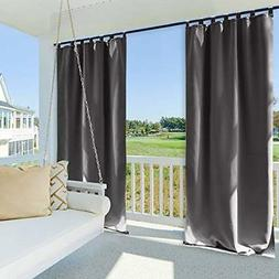 NICETOWN Outdoor Curtain Panel 108 Inches Long, Thermal Insu